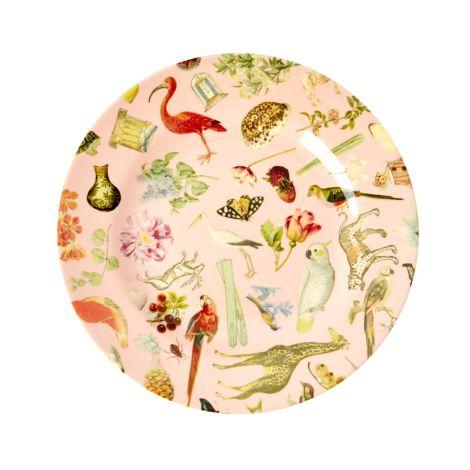 Rice Melamin Teller Pink Art Print Joëlle Wehkamp