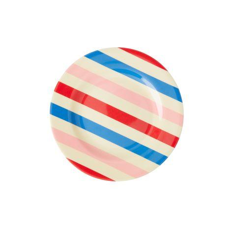 Rice Melamin Teller Candy Stripes