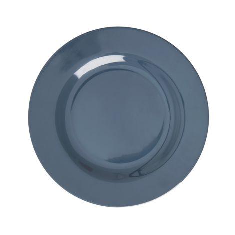 Rice Melamin Teller Dark Grey