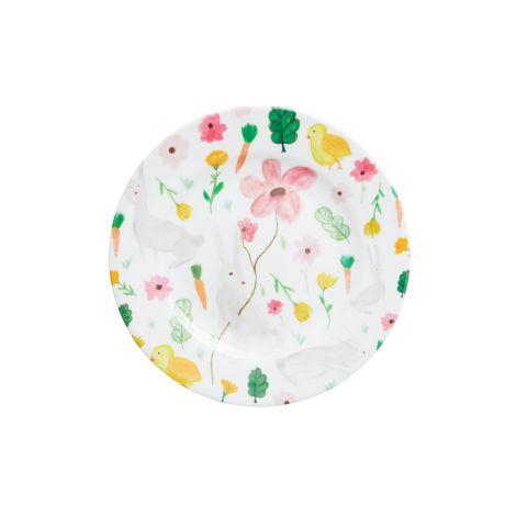 Rice Melamin Teller Pink Easter