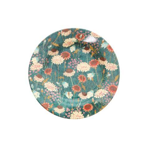 Rice Melamin Teller Fall Flower