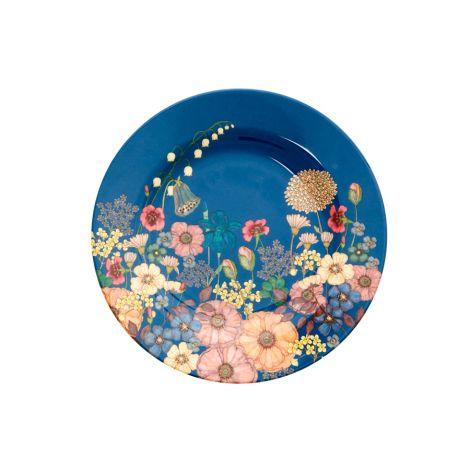 Rice Melamin Teller Flower Collage