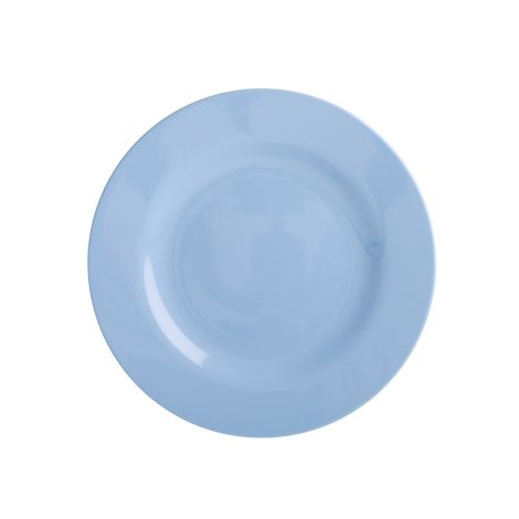 Rice Melamin Teller Pigeon Blue