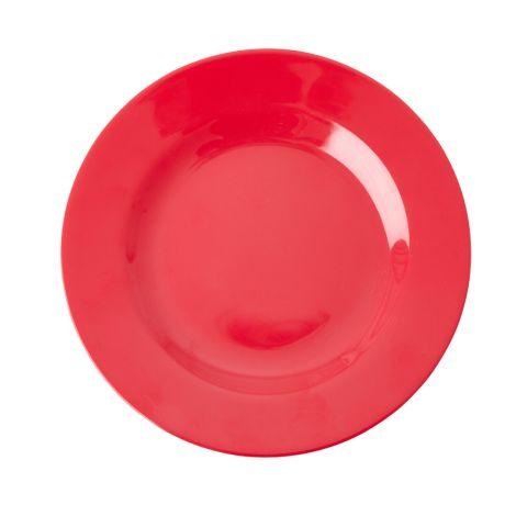 Rice Melamin Teller Red Kiss