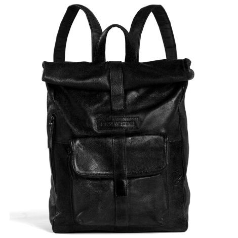 Sticks and Stones Messenger Rucksack Black