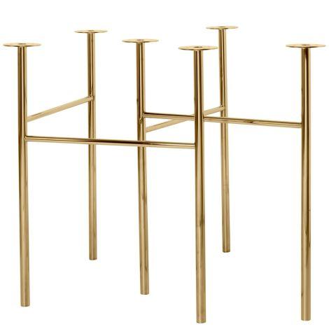 ferm LIVING Tischbeine Mingle Brass 68 cm 2er-Set