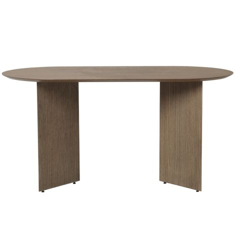ferm LIVING Tischplatte Mingle Oval Black Stained Oak Veneer 150 cm