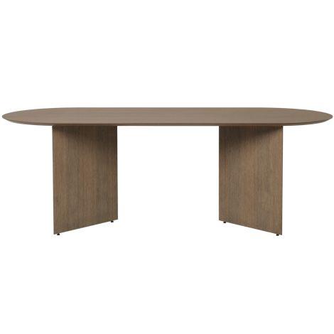 ferm LIVING Tischplatte Mingle Oval Black Stained Oak Veneer 220 cm