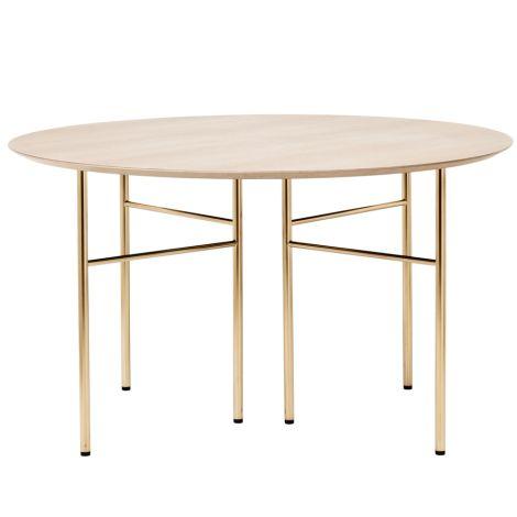 ferm LIVING Tischplatte Mingle Round Natural Oak Veneer Ø130