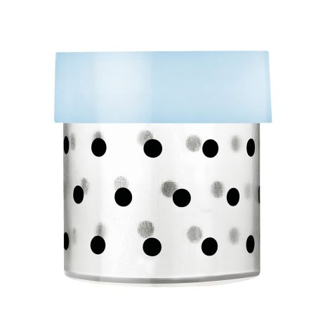 Miss Étoile Aufbewahrungs-Dose Dots S, Deckel hellblau