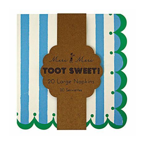 Meri Meri Toot Sweet Blue Papierservietten