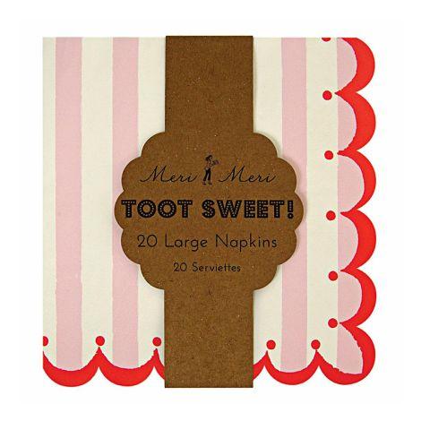 Meri Meri Toot Sweet Rosa Papierservietten •