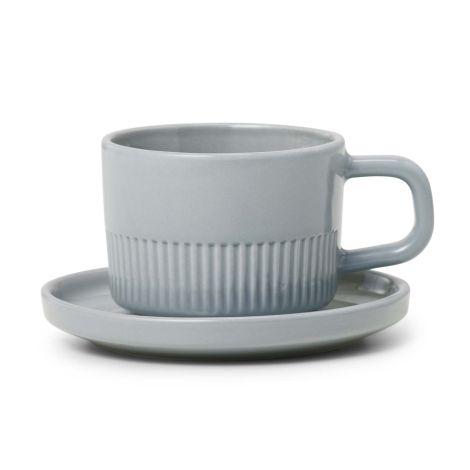 Marc O'Polo Espressotasse mit Unterteller Moments Soft Grey