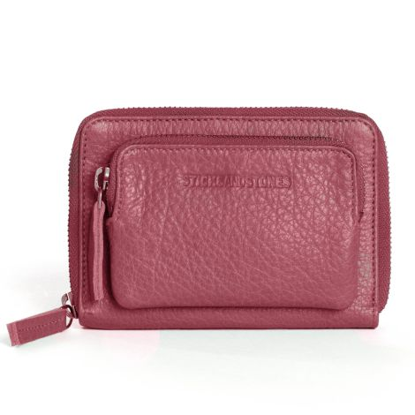 Sticks and Stones Portemonnaie Montana Ruby Red Washed