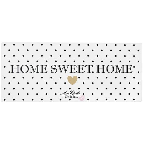 Miss Étoile Metallschild Home Sweet Home Black Dots •