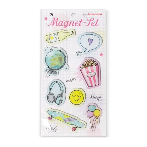 krima & isa Magnete Girlpower 8er-Set