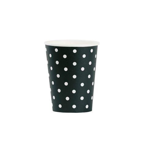 Miss Étoile Pappbecher Dots Schwarz/Weiß •