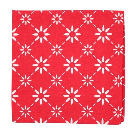 Krasilnikoff Stoffserviette Diagonal Red