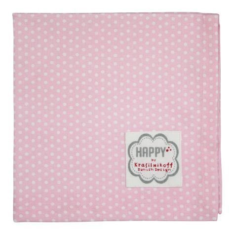 Krasilnikoff Stoffserviette Pink Micro Dots