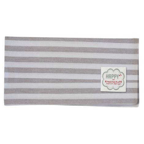 Krasilnikoff Stoffserviette Taupe Big Stripes