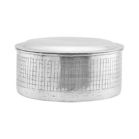 House Doctor Aufbewahrungsgefäß mit Deckel Noova Silber 25 cm