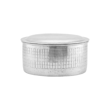 House Doctor Aufbewahrungsgefäß mit Deckel Noova Silber 20 cm