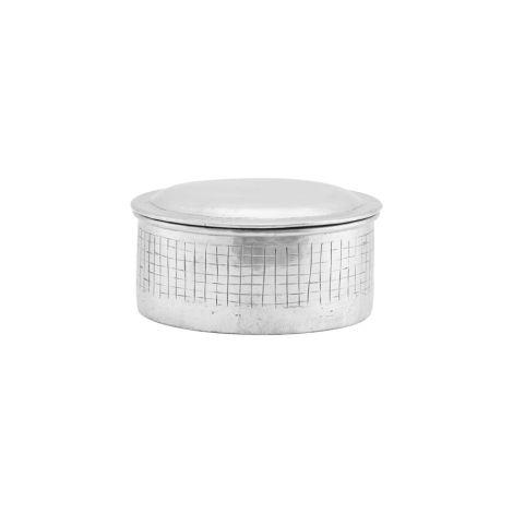 House Doctor Aufbewahrungsgefäß mit Deckel Noova Silber 14 cm