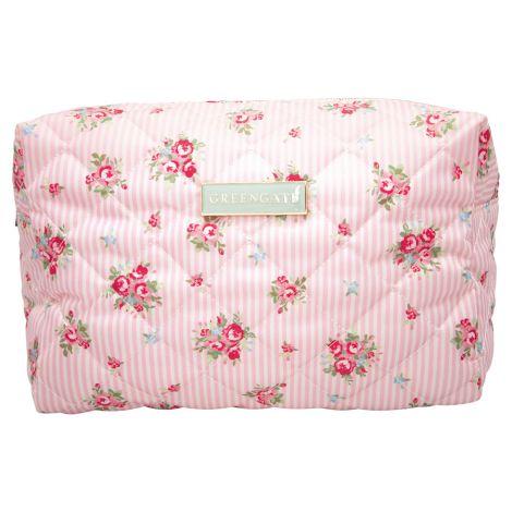 GreenGate Kosmetiktasche Abigail Stripe Pale Pink Large