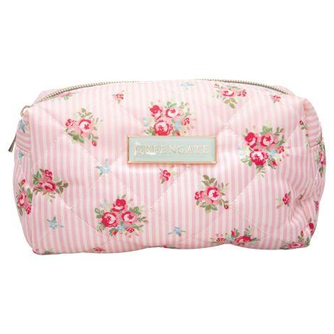 GreenGate Kosmetiktasche Abigail Stripe Pale Pink Small
