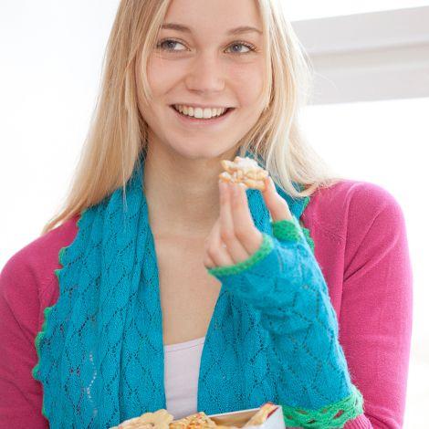 Overbeck & Friends Stulpen Livia Klatschmohnrot