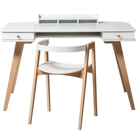 Oliver Furniture Wood Schreibtisch 66 cm & Armlehnstuhl Set