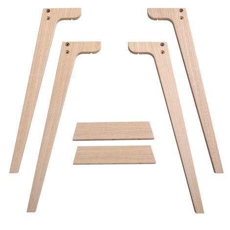 Oliver Furniture Wood Extra Tischbeinset für Schreibtisch 72,6 cm