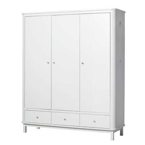 oliver furniture wood kleiderschrank 3 t rig wei online. Black Bedroom Furniture Sets. Home Design Ideas