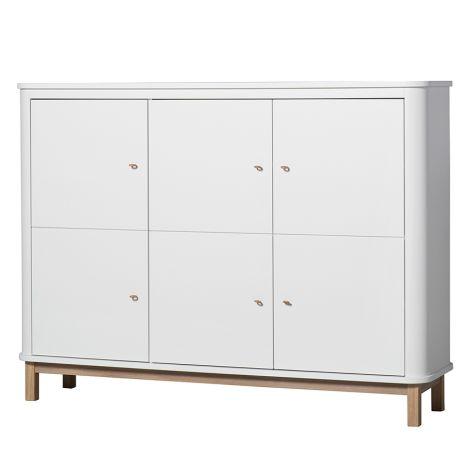 Oliver Furniture Wood Multi-Schrank 3-Türig Weiß/Eiche