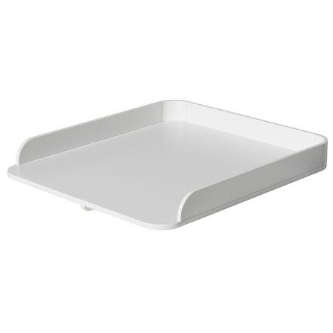 Oliver Furniture Wood Kleine Wickelplatte für Kommode 6 Schubladen Weiß