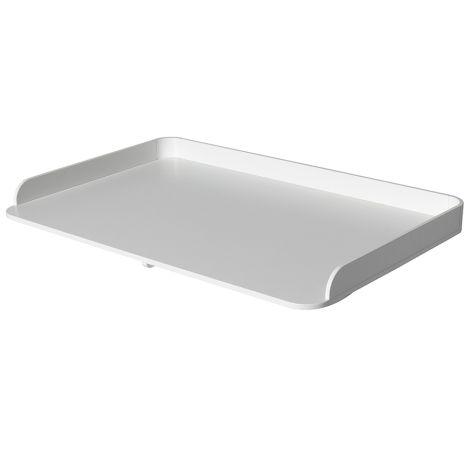 Oliver Furniture Wood Große Wickelplatte für Kommode 6 Schubladen Weiß