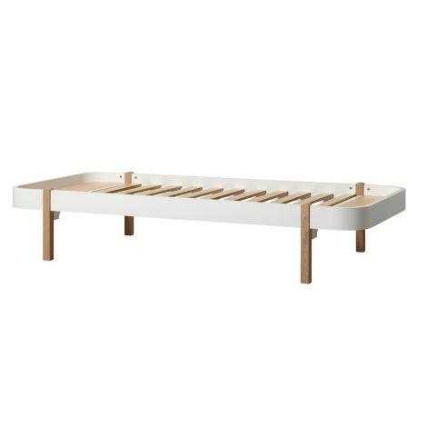 Oliver Furniture Bett Wood Lounger 90 x 200 Weiß/Eiche