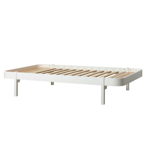 Oliver Furniture Bett Wood Lounger 120 x 200  Weiß