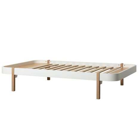 Oliver Furniture Bett Wood Lounger 120 x 200 Weiß/Eiche