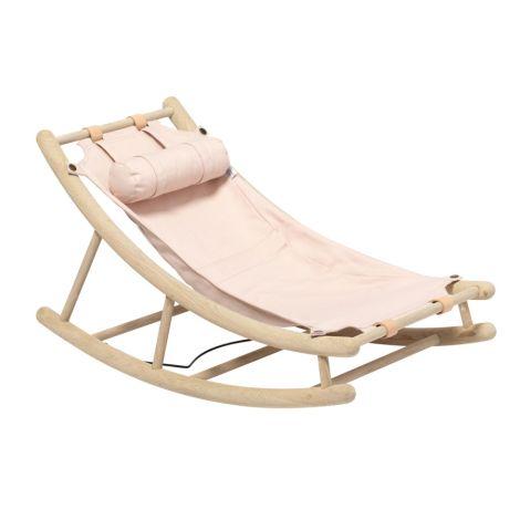 Oliver Furniture Kleinkindwippe Wood Eiche/Rosa