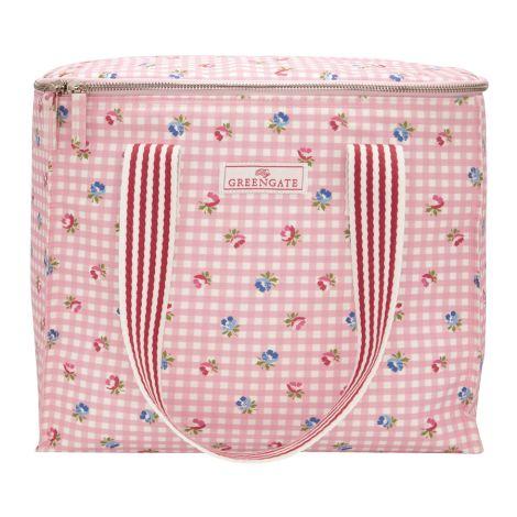 GreenGate Kühltasche mit zwei Griffen Viola Check Pale Pink