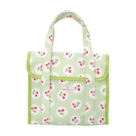 GreenGate Lunchbag Cherry Berry Green •