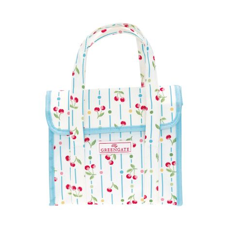 GreenGate Lunchbag Cherry White •