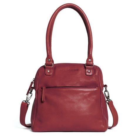 Sticks and Stones Ledertasche Orleans Red