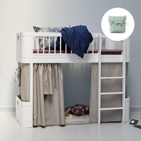 Oliver Furniture Vorhang für halbhohes Hochbett Wood Mini+ Grün