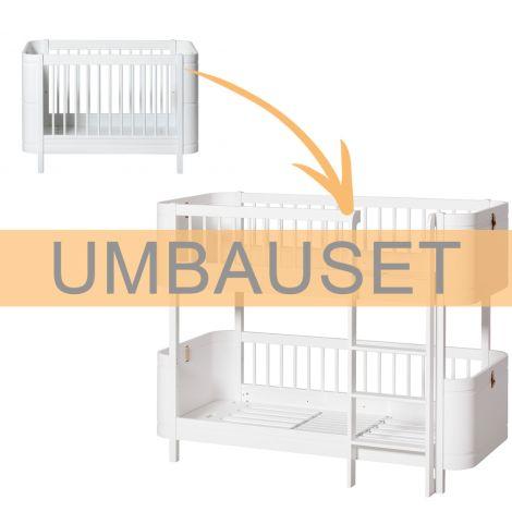 Oliver Furniture Umbauset Wood Mini+ Basic zum halbhohen Etagenbett Weiß