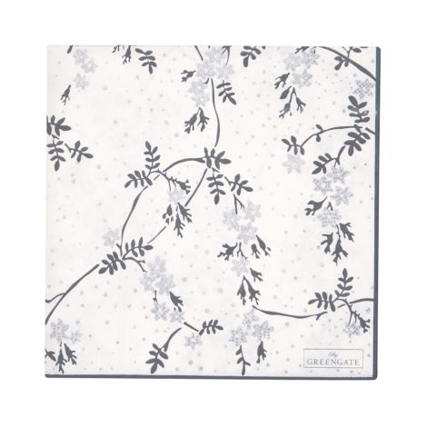 GreenGate Papierserviette Amira White Large 20 Stk.
