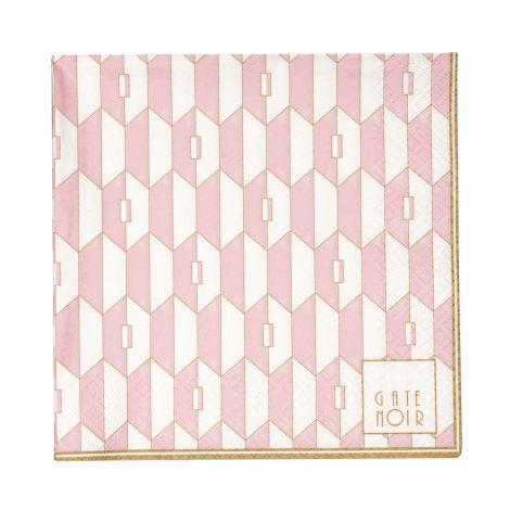 Gate Noir by GreenGate Papier-Serviette Large Aurelie Pale Pink 20 Stk. •