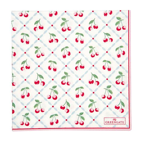 GreenGate Papierserviette Cherie White Large 20 Stk.