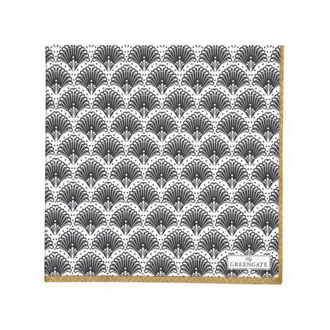 Gate Noir by GreenGate Papier-Servietten Elvina Gold 20 Stk. •